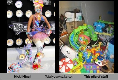 Nicki Minaj Totally Looks Like This Pile of Stuff