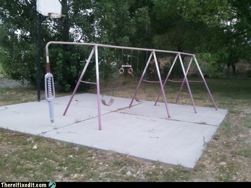 Hey Man, Could You Go Swing Somewhere Else? We're Trying to Shoot Hoops!