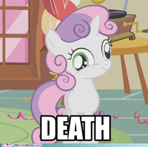 Death,derp,scary,Sweetie Belle,the internets