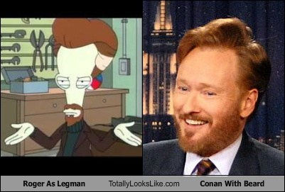 Roger as Legman (American Dad) Totally Looks Like Conan O'Brien With Beard