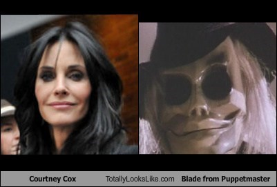 Courtney Cox Totally Looks Like Blade from Puppetmaster