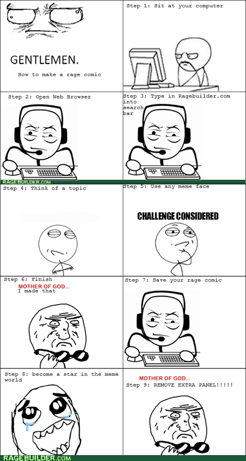 How to make a rage comic