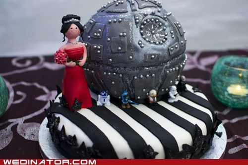 cake topper,Death Star,funny wedding photos,geek,star wars