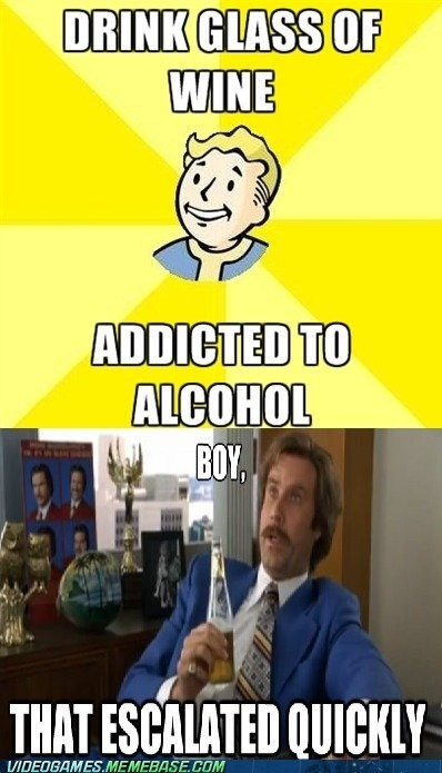 addiction,anchor man,fallout 3,meme