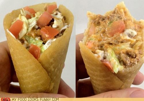 cone,genius,snack,taco