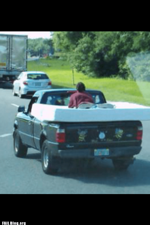 Hauling a Mattress FAIL