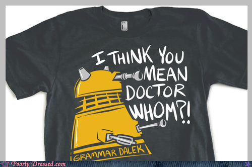 best of week,dalek,doctor who,dressed to win,grammar,Hall of Fame
