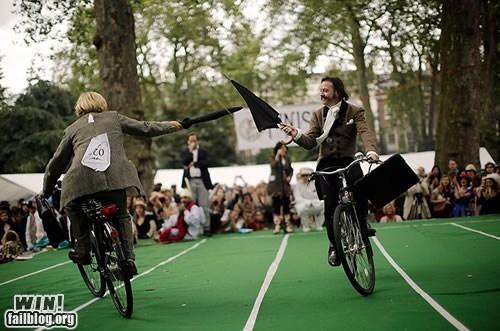 chap,jousting,manly,olympics,umbrella