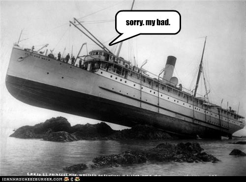 accident,boat,oops,rock,run aground,ship
