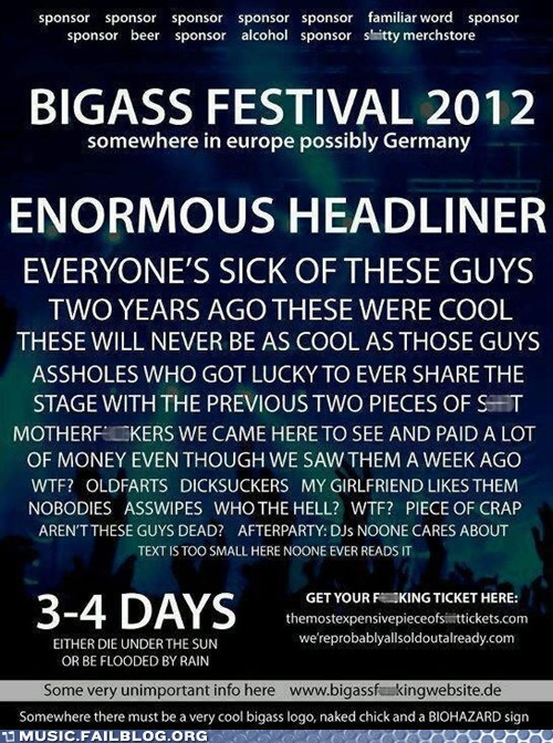 Music FAILS: Music Festival Concert Lineup Announced!