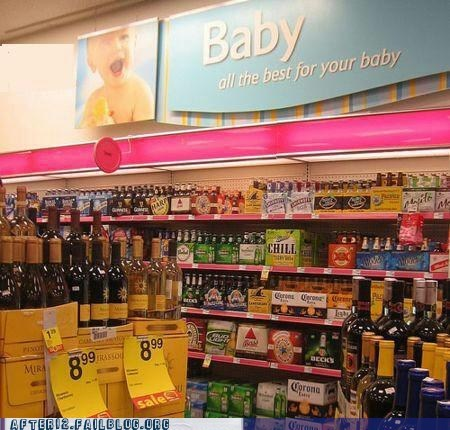 baby section,liquor,liquor store,tanked toddlers,wine store