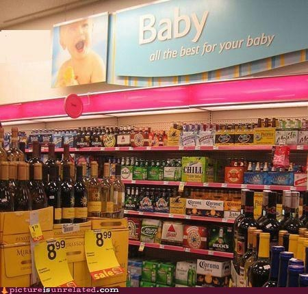 alcohol,Babies,beer,booze,store,wtf
