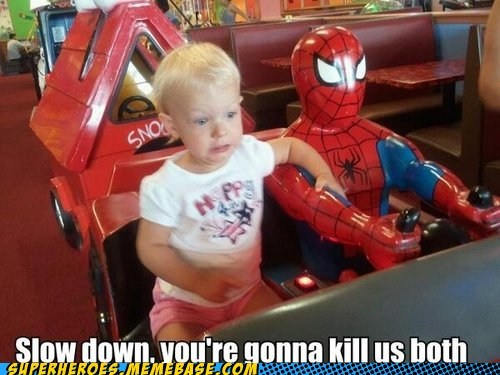Never Let Spidey Take the Wheel