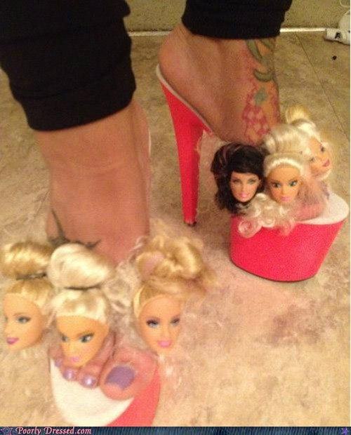 Barbie,heels,platforms,shoes,toys,weird