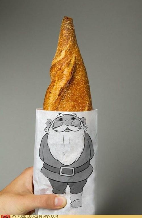 bag,baguette,bread,cartoons,David the Gnome,design,gnome,graphic,hat,logo