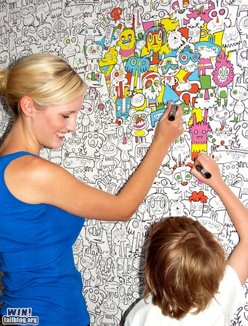 WIN!: Color-In Wallpaper WIN