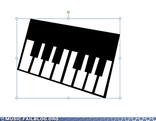 Clip Art Piano FAIL
