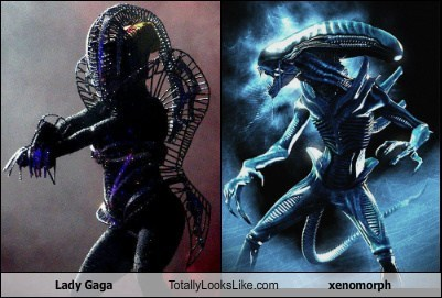 Totally Looks Like: Lady Gaga Totally Looks Like a Xenomorph