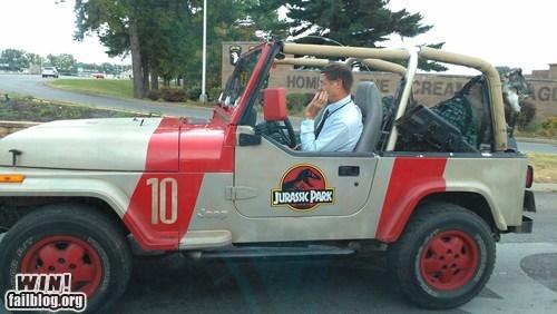 car,commute,jeep,jurassic park,nerdgasm