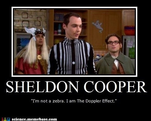 big bang theory,costume,doppler effect,science