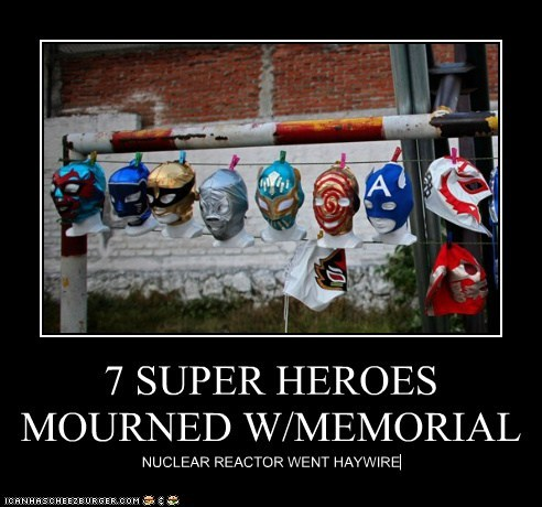 7 SUPER HEROES MOURNED W/MEMORIAL