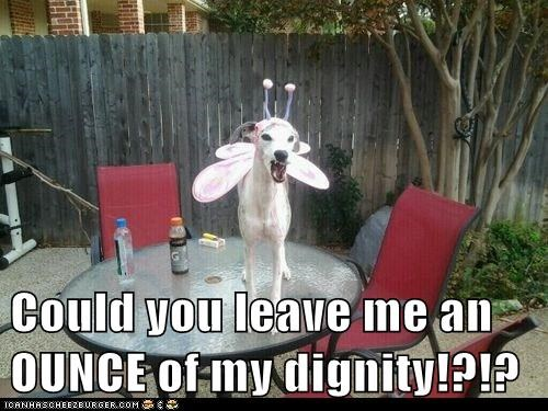 Could you leave me an OUNCE of my dignity!?!?