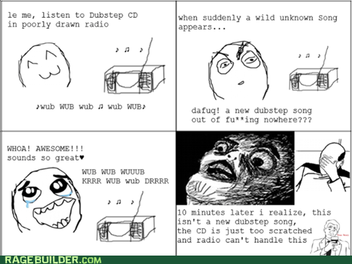 Rage Comics: Can't Tell If Whole CD is That Way, or Whole Genre