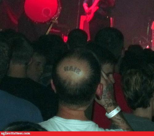bald spot,g rated,hair,head tattoos,Ugliest Tattoos