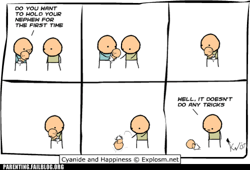 comic,cyanide & happiness,cyanide-happiness,dropped baby,nephew