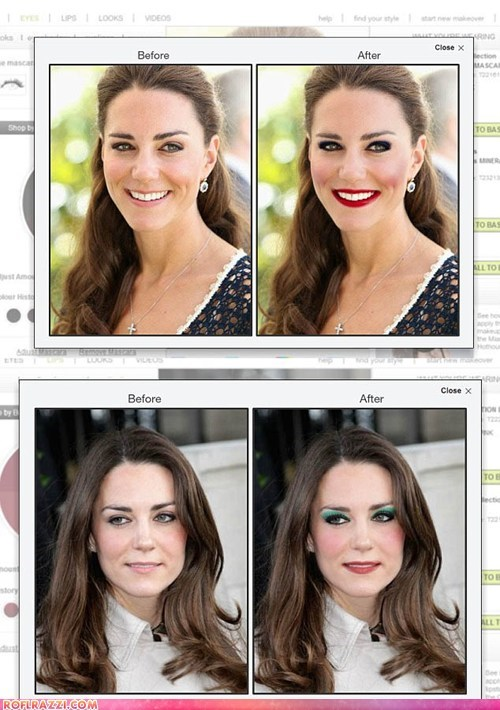 funny celebrity pictures,if style could kill,kate middleton,makeup