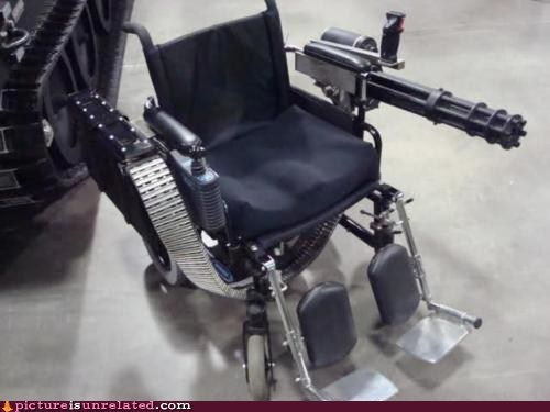 Power Wheelchair... Firepower, That Is