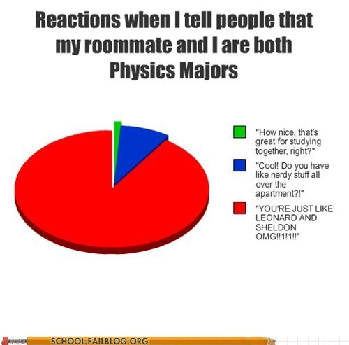 Laugh Track,Physics Major,Pie Chart,the big bang theory