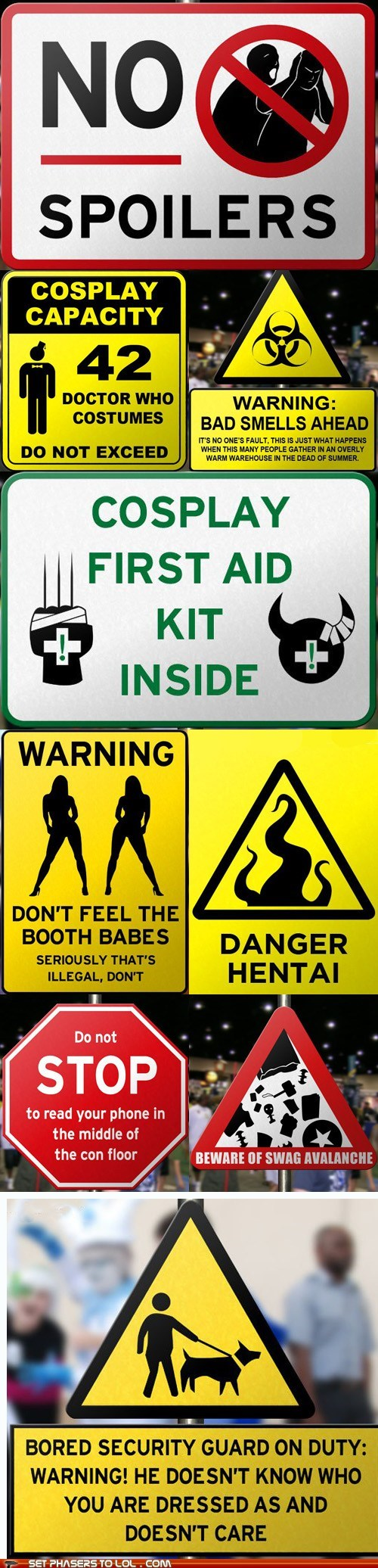 Comic-Con Warning Signs