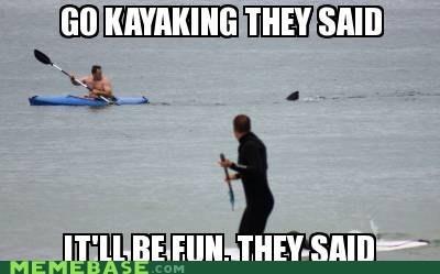 fun,kayak,shark,They Said