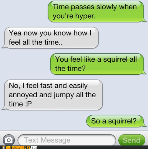 You're a Squirrel Now Get Over It