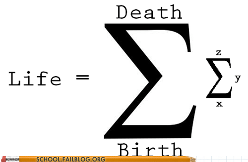 Life in Mathematical Terms