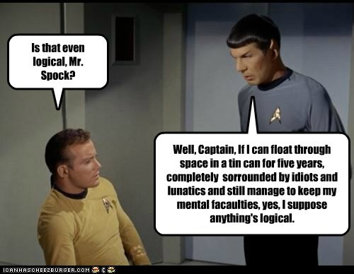 bitter,Captain Kirk,idiots,Leonard Nimoy,logical,Shatnerday,Spock,Star Trek,William Shatner
