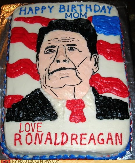 birthday,cake,mom,president,Ronald Reagan