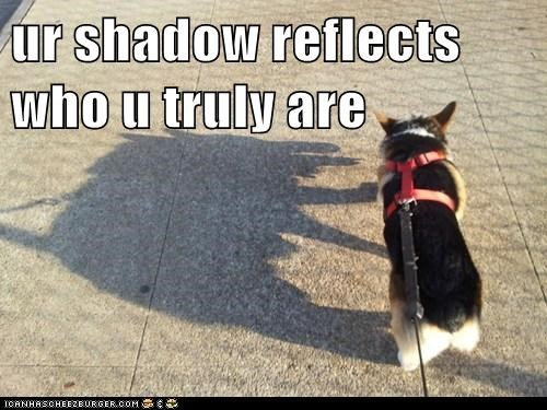 ur shadow reflects who u truly are