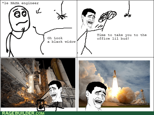 f that,Rage Comics,space,spider
