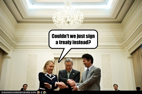Couldn't we just sign a treaty instead?