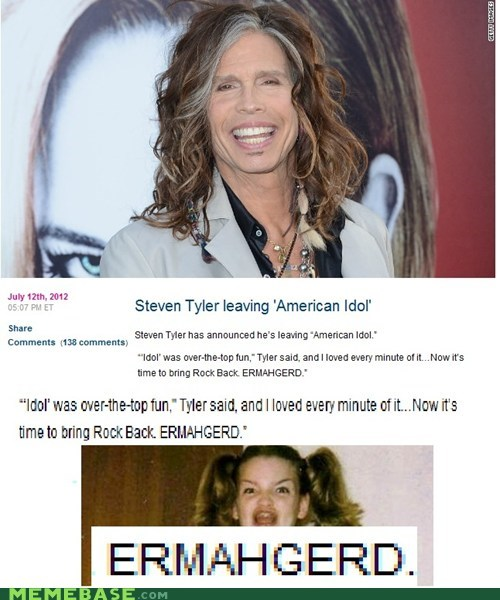 Aerosmith,American Idol,derp,Ermahgerd,rock,steven tyler