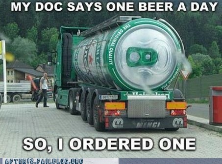 After 12: A Giant Tank of Beer a Day Keeps the Cirrhosis Away!