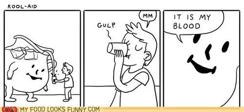 Blood,comic,drink,kool aid