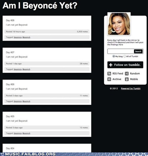Are You Beyonce Yet?