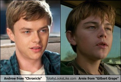 "Dane DeHaan (Andrew from ""Chronicle"") Totally Looks Like Leonardo DiCaprio (Arnie from ""What's Eating Gilbert Grape"")"