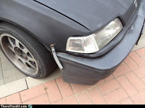 bumper,bumper fix,car fail,car fix,spring