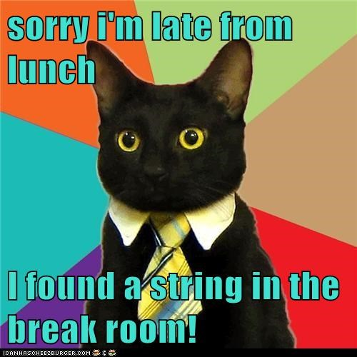 Animal Memes: Business Cat - Good Thing There Weren't Any Laser Pointers in There