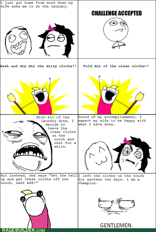 Rage Comics: Wash Your Own Granny Panties, Woman
