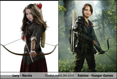 Lucy - Narnia Totally Looks Like Katniss - Hunger Games